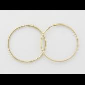 Серьги Конго, серебро с золотым покрытием, 30мм