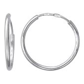 Серьги-конго из серебра 925 пробы