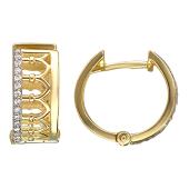 Серьги Европа с бриллиантами, желтое золото