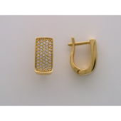 Серьги Дорожка с бриллиантами, желтое золото
