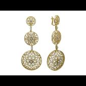 Серьги  с бриллиантами, желтое золото