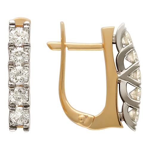серьги дорожки с бриллиантами фото