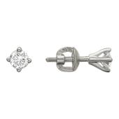Серьги-пусеты с бриллиантами 0,48ct, белое золото 750 проба