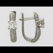 Серьги с бриллиантами, белое золото 750 проба