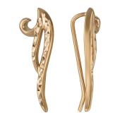 Серьги Каффы с алмазными гранями, красное золото