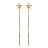 Серьги Звезда красное золото, 585 проба