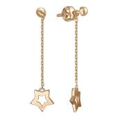 Серьги Викс с цепочкой и звездой, красное золото