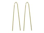 Серьги две подвижные спицы, желтое золото 585 пробы