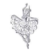 Брошь Балерина из серебра 925 пробы