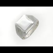 Кольцо мужское без вставок из серебра