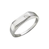 Кольцо мужское с фианитом, серебро