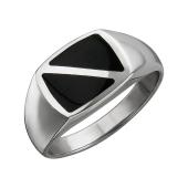 Кольцо мужское с ониксом из серебра
