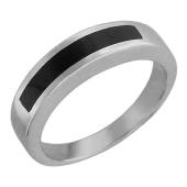 Кольцо мужское с ониксом, серебро
