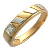 Мужское кольцо с бриллиантом, красное золото