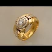 Кольцо с бриллиантами, комбинированное золото