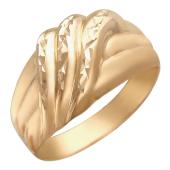 Мужское кольцо с алмазными гранями, красное золото