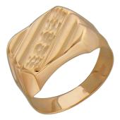 Мужское золотое кольцо, алмазная грань диагональ, красное золото 585 пробы