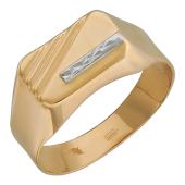 Печатка, красное золото,красное золото, 585 пробы  Вставка: алмазная огранка