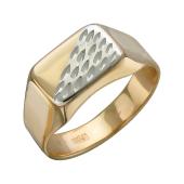 Печатка с алмазными гранями из красного золота