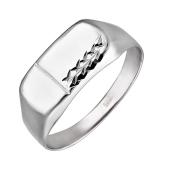 Печатка с алмазными гранями из серебра