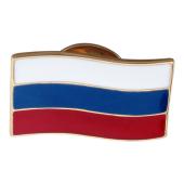 Значек Флаг Российской Федерации, красное золото и эмаль