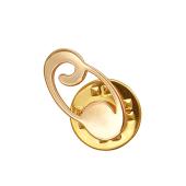 Брошь-значок знак Зодиака Рак, красное золото