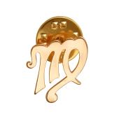 Брошь-значок знак Зодиака Дева, красное золото