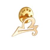 Брошь-значок знак Зодиака Весы, красное золото