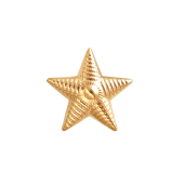 Звезда на погоны лейтенантская, красное золото (лейтенант, старший лейтенант, капитан) 13мм, 585 пробы
