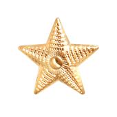 Звезда майорская, красное золото (майор, подполковник, полковник) 20мм, 585 пробы