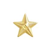 Звезда на погоны лейтенантская, желтое золото (лейтенант, старший лейтенант, капитан) 13мм, 585 пробы