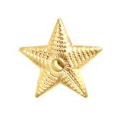 Звезда на погоны майорская, желтое золото (майор, подполковник, полковник) 20мм