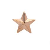 Звезда на погоны майорская из серебра 925 пробы с позолотой
