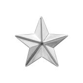 Звезда на погоны майорская из серебра 925 пробы классическая