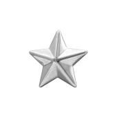 Звезда на погоны лейтенантская  из серебра 925 пробы