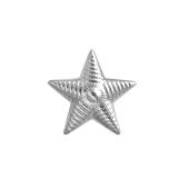 Звезда на погоны лейтенантская из серебра 925 пробы с рельефом