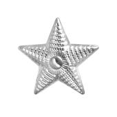 Звезда на погоны майорская из серебра 925 пробы