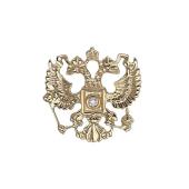 Значок Двуглавый Орел с бриллиантом, желтое золото