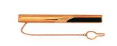 Зажим для галстука с ониксом прямоугольной формы и диагоналями