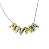 Кулон Викс буква Н, латинская N, желтое золото