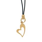 Брелок Сердце на текстильном шнурке, красное золото