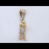 Подвеска, знак зодиака Скорпион, бриллиант, комбинированное золото, 585 пробы