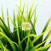 Кольцо с большим наноситалом Гелиодор, красное золото