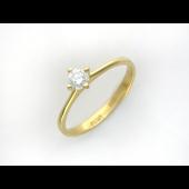 Кольцо с бриллиантом, желтое золото 750 проба