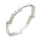 Кольцо Молния с бриллиантами, белое золото 750 проба