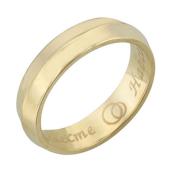 Обручальное кольцо с горкой, желтое золото, гравировка Вместе Навсегда, 4.5 мм