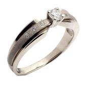 Кольцо с бриллиантами и рубином, комбинированное золото