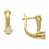 Серьги с бриллиантами, белое золото
