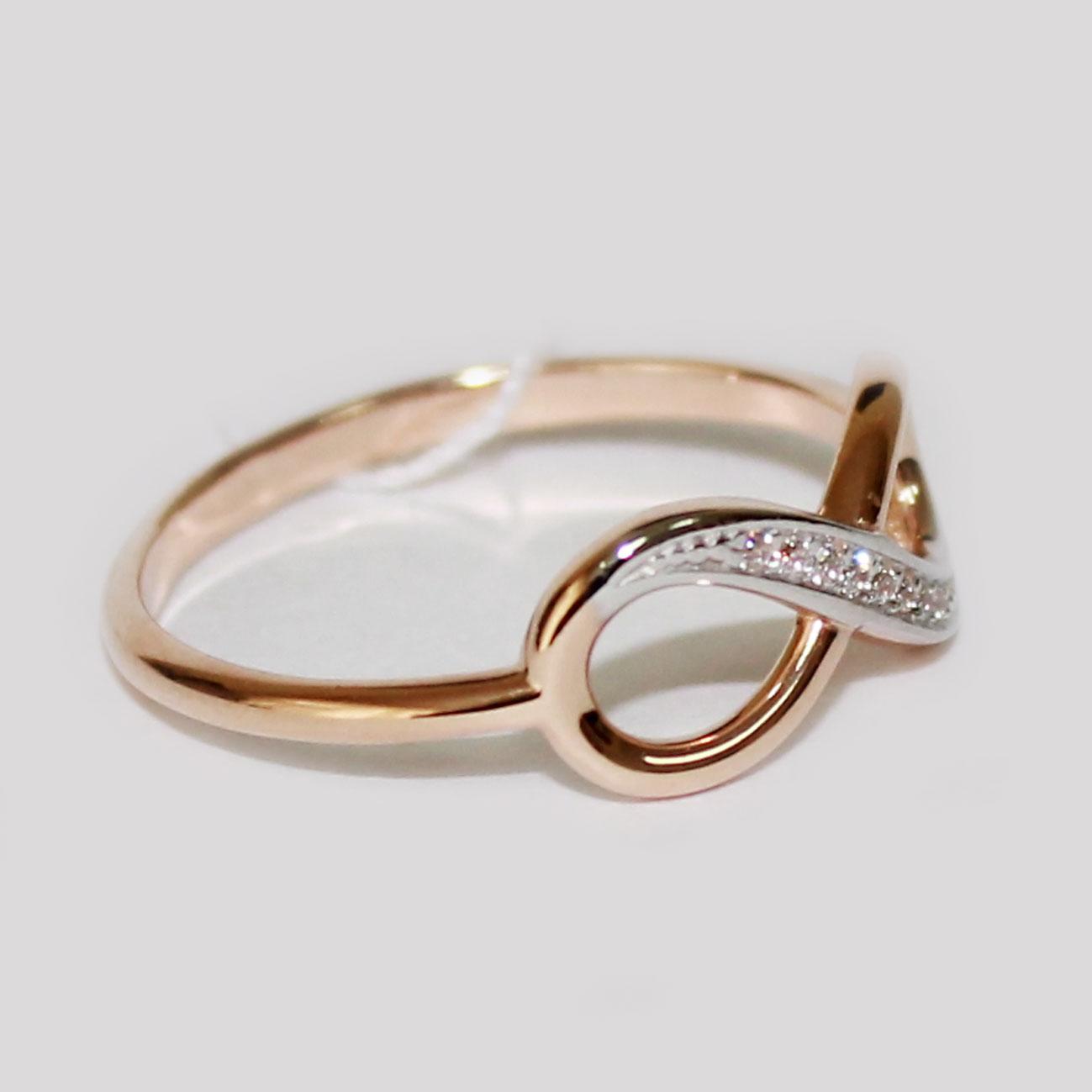 кольцо из серебра со знаком бесконечности