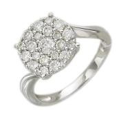 Кольцо Бриллиантовая Малинка, белое золото